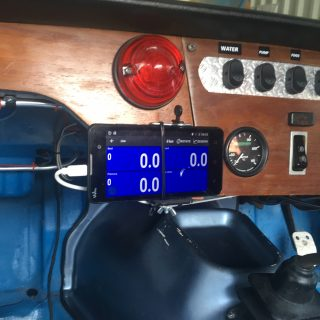 RaceChrono laptimer installation in the Spitfire