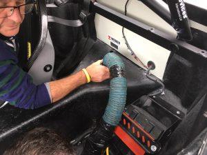 Lotus 26R improvised diff cooler